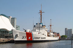 Historic US Coast Guard Cutter Taney in Baltimore. Historical USCGC US Coast Guard high endurance cutter Taney WHEC-37 moored as a museum ship and National Royalty Free Stock Photo