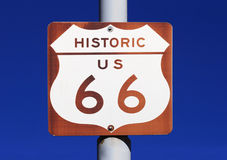 Historic US route 66 Sign Stock Image