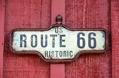Historic US Route 66 Sign Royalty Free Stock Photography