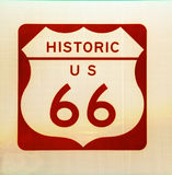 Historic US Route 66 sign Royalty Free Stock Image