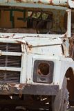 Historic van rusted in the sun in the Turkish city of Sinop royalty free stock photo