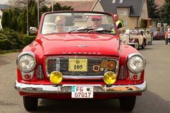 Historic vehicles. Meeting historic vehicles - Málkov , Czech Republic , April 25, 2015 . Writer habitat at the race circuit Stock Photos
