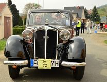 Historic vehicles. Meeting historic vehicles - Málkov , Czech Republic , April 25, 2015 . Writer habitat at the race circuit Royalty Free Stock Photo