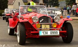 Historic vehicles. Meeting historic vehicles - Málkov , Czech Republic , April 25, 2015 . Writer habitat at the race circuit Stock Photography