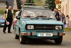 Historic vehicles. Meeting historic vehicles - Málkov , Czech Republic , April 25, 2015 . Writer habitat at the race circuit Royalty Free Stock Images