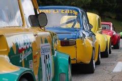 Historic vehicles racing cars at the start Stock Image