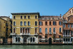 Historic Venetian architecture on the Grand Canal. Historic Venetian architecture on the Grand Canal Royalty Free Stock Photography