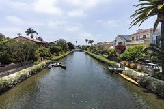 Historic Venice Canal Neighborhood in Los Angeles California Stock Image