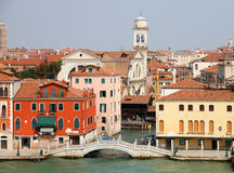Historic Venice at the sea Stock Photography
