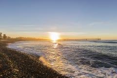 Historic Ventura Pier Sunrise Stock Images