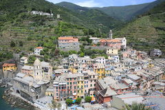 Historic Vernazza in Cinque Terre, Italy Stock Images
