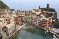 Historic Vernazza in Cinque Terre, Italy Stock Photo