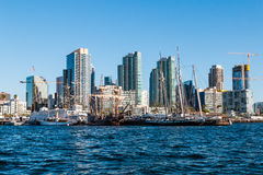 Historic Vessels of Maritime Museum of San Diego. SAN DIEGO, CALIFORNIA - MARCH 2, 2017: Historic vessels of the Maritime Museum of San Diego and the downtown stock photo