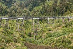 Historic viaduct near Ohakune in Tongariro National Park Royalty Free Stock Photos
