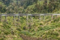 Historic viaduct near Ohakune in Tongariro National Park. In New Zealand Royalty Free Stock Photos