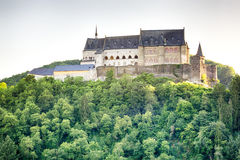 The historic Vianden Castle, Luxembourg Royalty Free Stock Photography