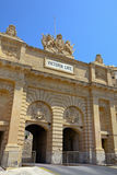 Historic Victoria Gate in Valletta, Malta. Royalty Free Stock Photos