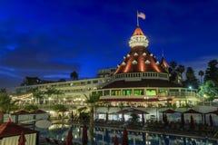 Historic Victorian beach hotel on coronado island in coronado, C Stock Photography