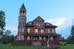 Historic Victorian Mansion in Superior Stock Images