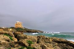 Historic villa in Alghero, Sardinia, Italy Stock Images