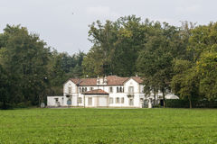 Historic villa in the Monza Park Stock Photo