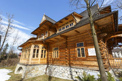 Historic villa named Oksza in Zakopane Stock Images