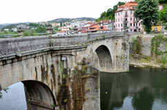 The historic village of Amarante in Portugal Royalty Free Stock Photo