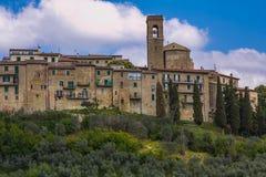 Historic village of Gualdo Cattaneo. In Umbria Stock Photos