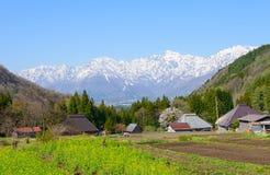 Historic village in Hakuba, Nagano, Japan Royalty Free Stock Images