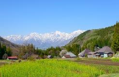Historic village in Hakuba, Nagano, Japan Stock Photo