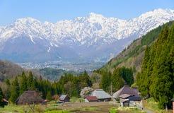 Historic village in Hakuba, Nagano, Japan. Landscape of Aoni village in Hakuba, Nagano, Japan Stock Photography