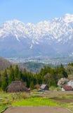 Historic village in Hakuba, Nagano, Japan. Landscape of Aoni village in Hakuba, Nagano, Japan Stock Photo