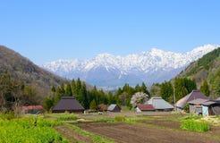 Historic village in Hakuba, Nagano, Japan. Landscape of Aoni village in Hakuba, Nagano, Japan Royalty Free Stock Images