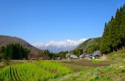 Historic village in Hakuba, Nagano, Japan. Landscape of Aoni village in Hakuba, Nagano, Japan Stock Image