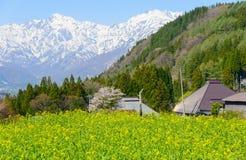 Historic village in Hakuba, Nagano, Japan. Landscape of Aoni village in Hakuba, Nagano, Japan Royalty Free Stock Photo