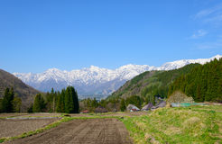 Historic village in Hakuba, Nagano, Japan Royalty Free Stock Photo
