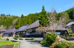Historic village in Hakuba, Nagano, Japan. Landscape of Aoni village in Hakuba, Nagano, Japan Royalty Free Stock Photography