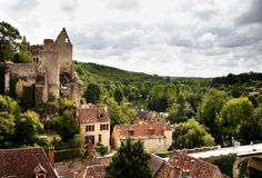 Historic Village In France Stock Photos