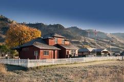 Historic village in mountains Stock Photo