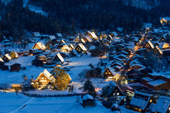 Free Historic Village Of Shirakawa-go In Winter Stock Image - 37673601