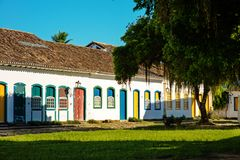 Historic village of Paraty, Brazil Royalty Free Stock Images