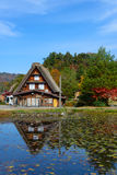 Historic Village of Shirakawa-go in autumn Royalty Free Stock Image