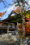 Historic Village of Shirakawa-go in autumn Akiba shrine Stock Photography