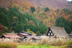 Historic village Shirakawa-go, Japan Royalty Free Stock Photo