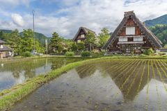 Historical village Shirakawa-go, Japan royalty free stock photo