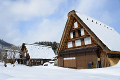 Historic Village of Shirakawa-go in winter Royalty Free Stock Photography