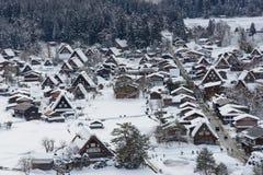 Historic Village of Shirakawa-go in winter Royalty Free Stock Image