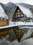 Historic Village of Shirakawa-go in winter Stock Images