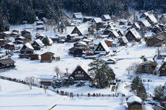 Historic Village of Shirakawa-go in winter Stock Photography