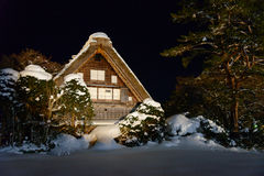 Historic Village of Shirakawa-go in winter Royalty Free Stock Photo